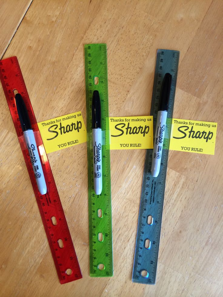 Thanks for making us sharp! You rule. Teacher appreciation gift.