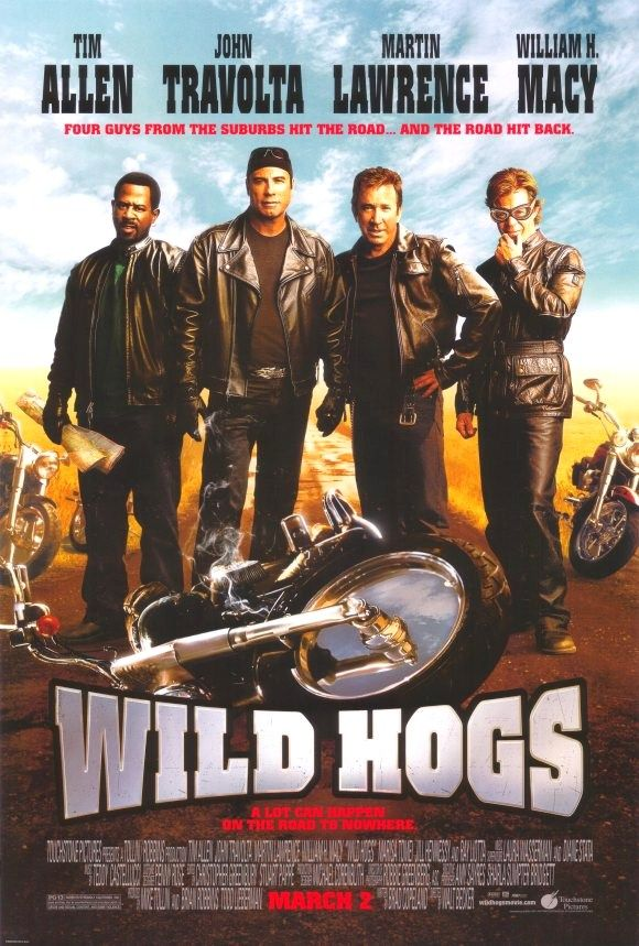 Wild Hogs (2007): A group of suburban biker wannabes looking for adventure hit the open road, but get more than they bargained for when they encounter a New Mexico gang called the Del Fuegos.
