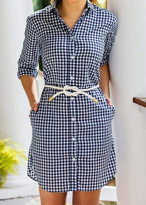 7a64ab2aac vestidos camiseros de cuadros