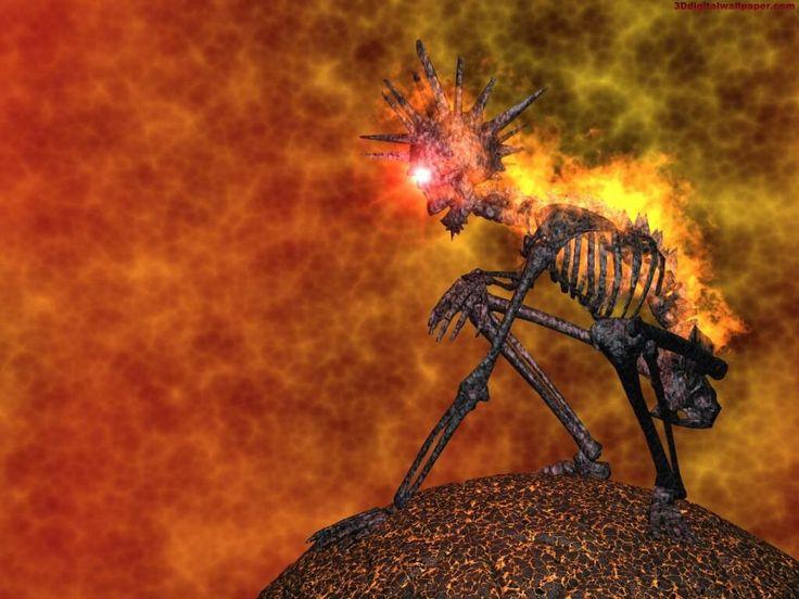 Imagen De Un Esqueleto En Llamas Fondos De Pantalla Fondos