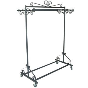"Boutique rolling rack....great for a ""go back"" rack in my dream closet.  No more clothes all over the floor. <3"