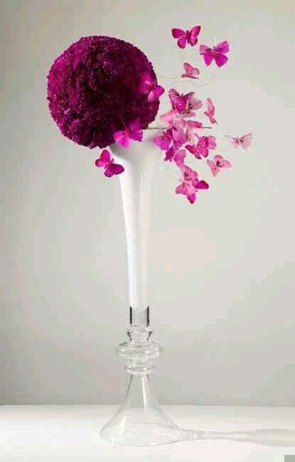 Round Deep Pink Design | Butterfly