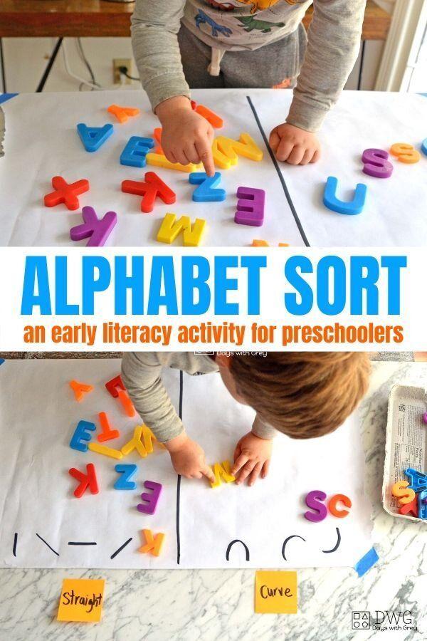 Alphabet Sort In 2020 Alphabet Activities Preschool Preschool Activities Literacy Activities Preschool