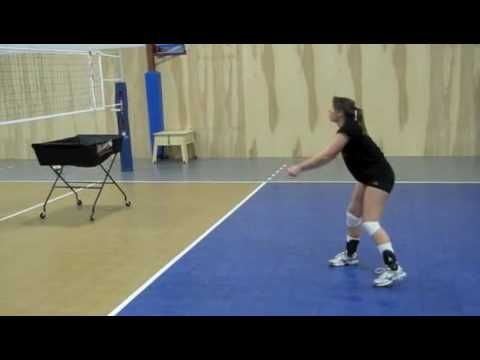 Volleyball passer's workout - YouTube