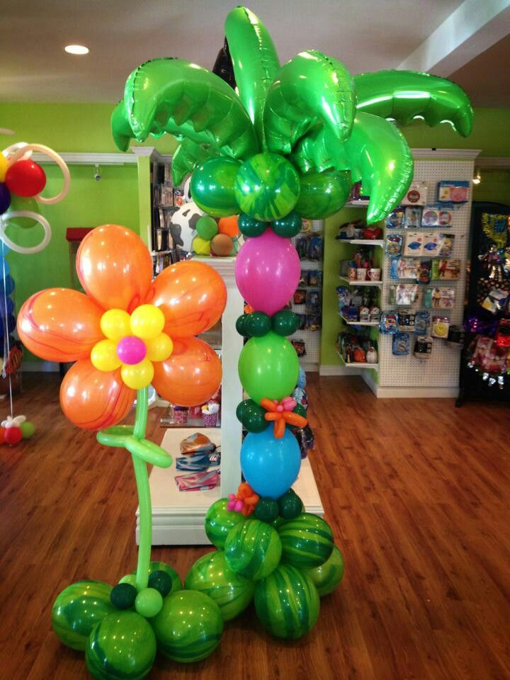 Balloons and beyond palm tree