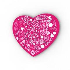 Barnmotiv Hjärta mönster