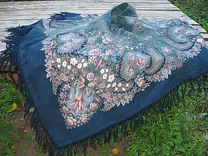 О работе с шерстяными павловопосадскими платками - Ярмарка Мастеров - ручная работа, handmade