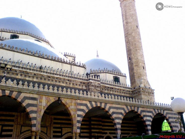 Khaled ibn Alwaleed mosque in Homs city -Syria  before Assad war on his people