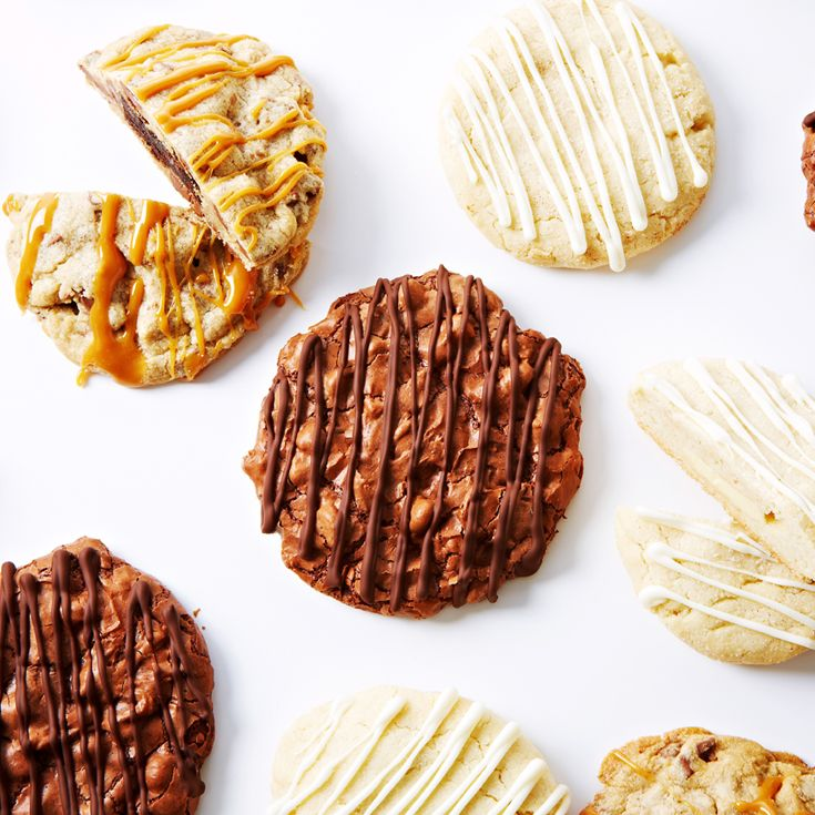 The ultimate chocolate cookie recipes - Brownie-Stuffed Chocolate Chip Cookies, Creamy White Snickerdoodle Cookies and Fudgy Chocolate Brownie Cookies. #BiteMeMore