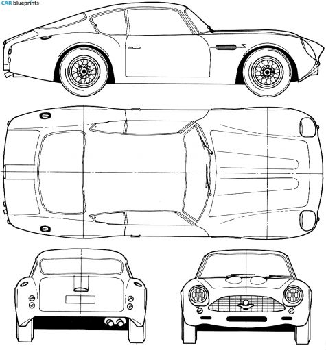 37 best cars blueprints images on pinterest cutaway vintage cars 1964 aston martin db4 gt zagato coupe blueprint malvernweather Choice Image