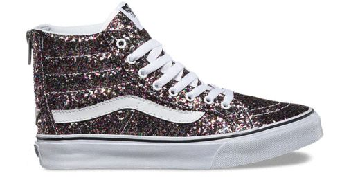 You deserve a hump day treat. A glittery treat! Shop the Chunky Glitter SK8-Hi Slim Zip and more sparkly shoes.