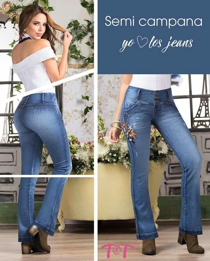 Recordemos juntos los años maravillosos de los 70, jeans de amplia bota en forma de campana debajo de las rodillas que ayudan a crear looks increíbles ya que, las piernas parecen más largas y esbeltas. Nos quedan las últimas tallas. Ingresa a www.jeanstyt.com y no dejes pasar esta oportunidad. #TytJeans #Pushup #JeansCampana
