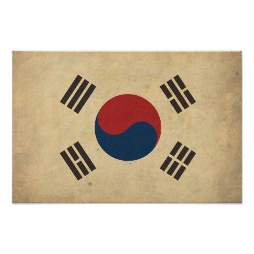 Vintage South Korea Flag Posters