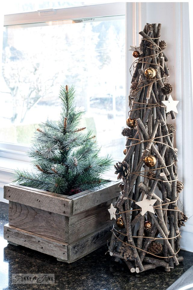 Christmas Junk Home Tour 2017 Wooden Christmas Decorations Diy Christmas Tree Christmas Decor Diy