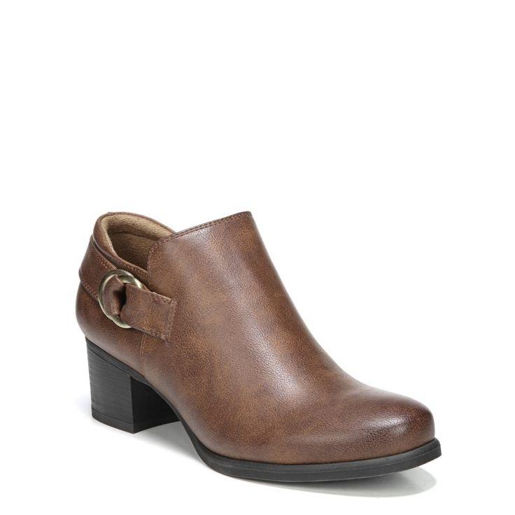 Natural Soul Women's Sandie Medium/Wide Ankle Boots (Tan)
