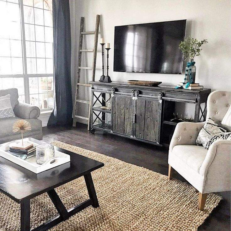 Decorating around the TV. @thespoiledhome • 2,371 likes