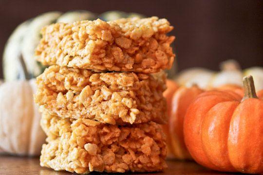 Pumpkin spice rice krispies! Definitely making these next fall: Pumpkin Pie, Pumpkin Krispie, Pumpkins, Rice Krispies, Pumpkin Rice, Pumpkin Spice, Rice Krispie Treats