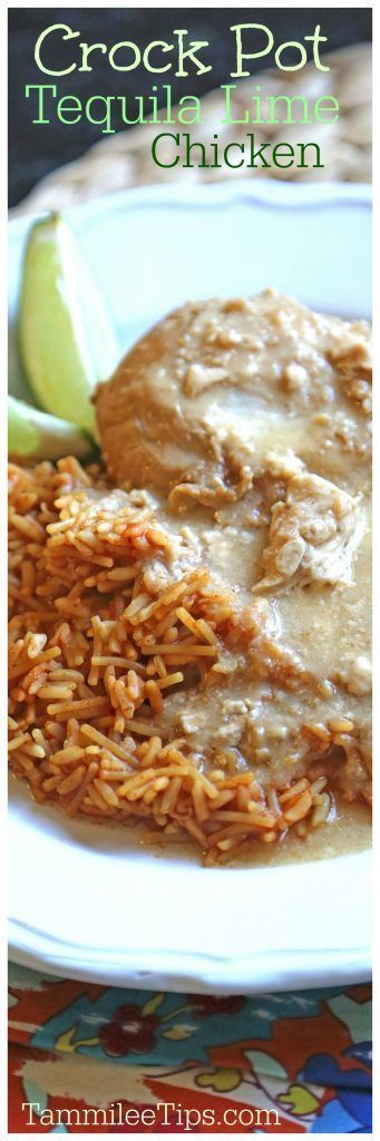 Crock Pot Tequila Chicken Recipe! This slow cooker crockpot chicken recipe could also be called Margarita Chicken. Perfect for Cinco De Mayo or Mexican Night at home! Serve with rice or pasta, also great in tacos, sandwiches, A great dinner recipe you can make tonight!