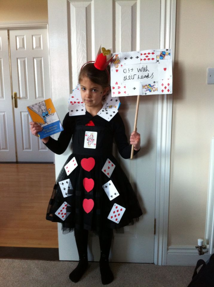 The Queen of Hearts all dressed up for World Book Day!