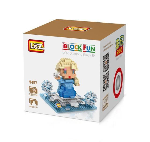 LOZ Princess Ariel Elsa Anna Olaf Toy Doll Building Block Model Adornment Decoration Gift Original Retail Box Wholesale