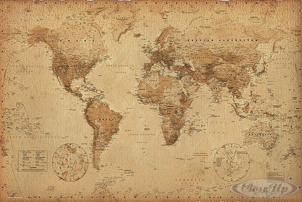 mapa mundi retrô tumblr - Pesquisa Google