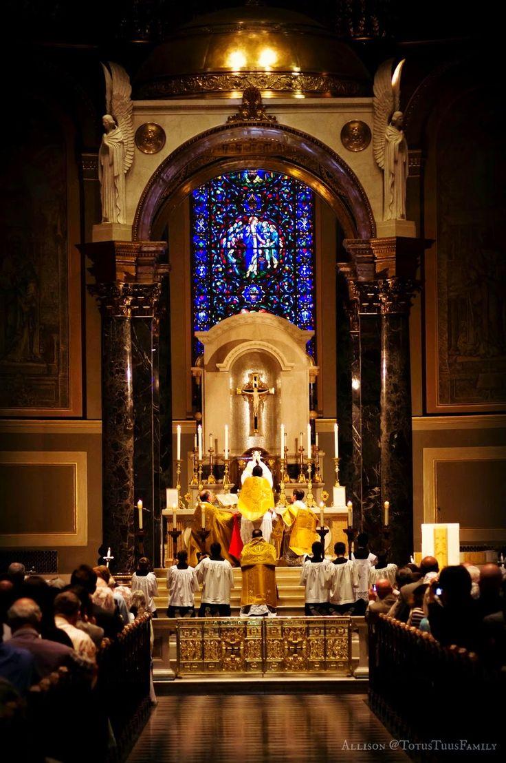 mass sunday trinity peter paul cathedral saints sacred philadelphia catholic sacrifice music liturgy host roman church liturgical st elevation eucharistic