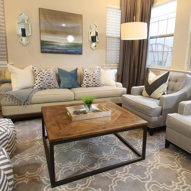 Scroll Tile Rug Living Room Decor On A Budget Living