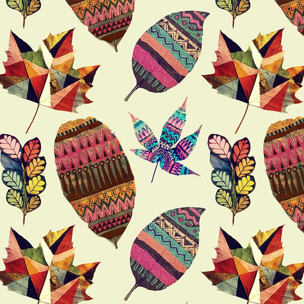 Painted Leaves on the Behance Network