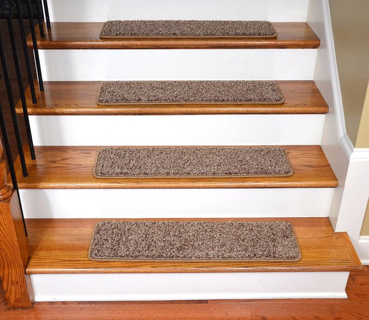 Elegant Washable Non Skid Carpet Stair Treads Black And Beige Set Of 13