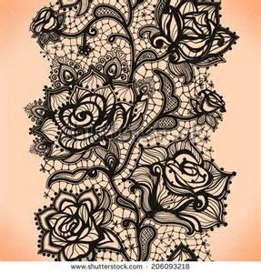 Image result for lace garter tattoo designs Pattern