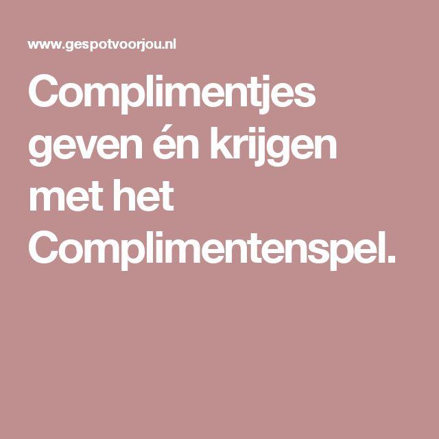 Complimentjes geven én krijgen met het Complimentenspel.