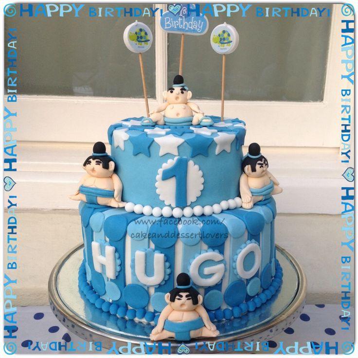 Babies Sumo Birthday Cake.  www.facebook.com/cakeanddessertlovers