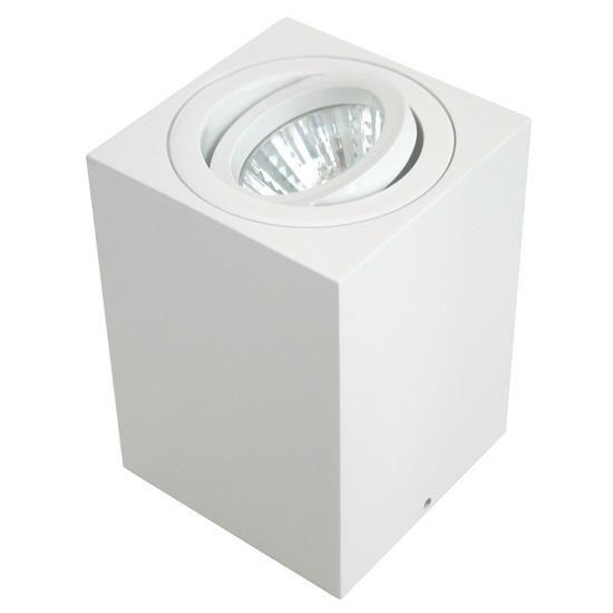 Rock Cube Spot Uplighter White 20W