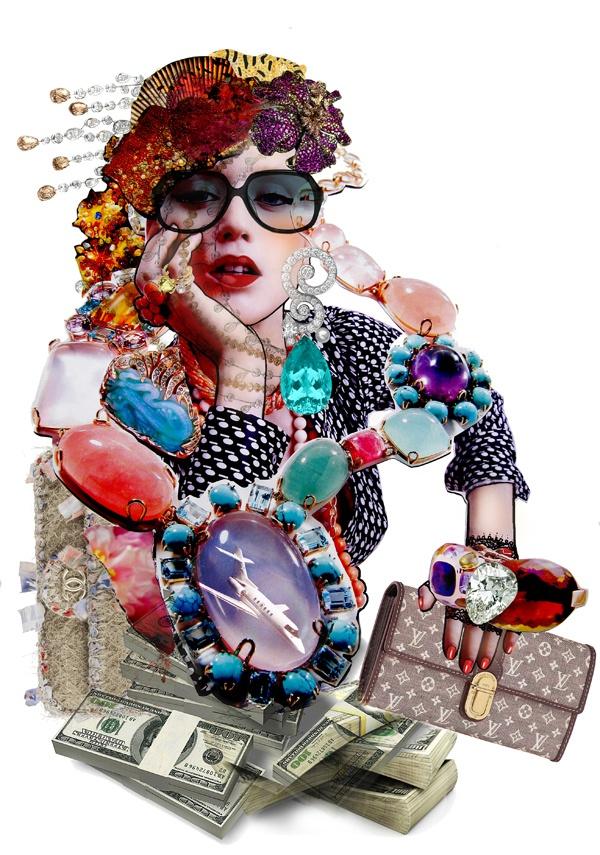 Collage for Tatler Magazine by Jenia Maslova
