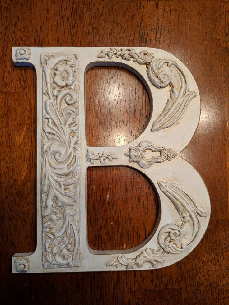 """Made this last night with IOD molds and a 8 """" wood B."""