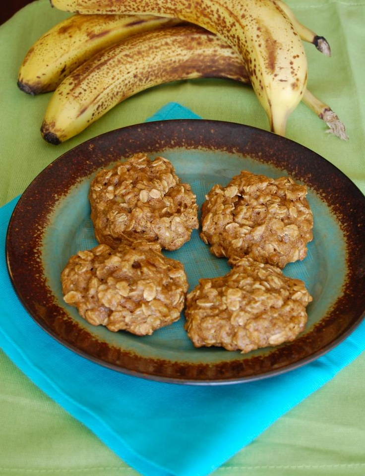 Low-Fat Oatmeal Banana Peanut Butter Cookies