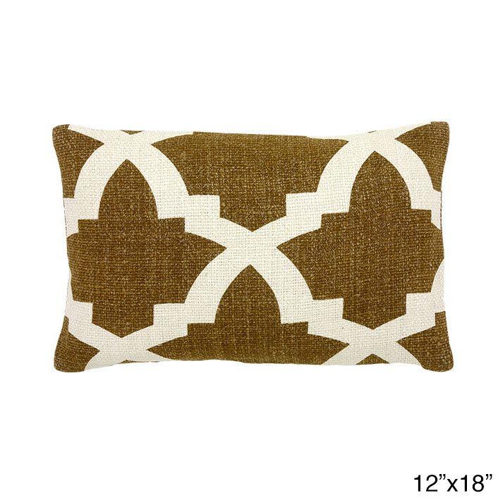 Global Artisans Initiative Camel/ White Bali Decorative Throw Pillow