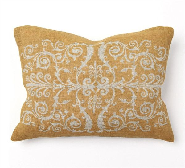 Villa Home Decorative Pillows : Scroll Print 12