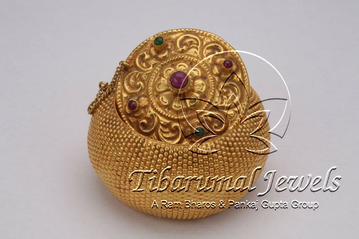 Kumkum Box | Tibarumal Jewels | Jewellers of Gems, Pearls, Diamonds, and Precious Stones