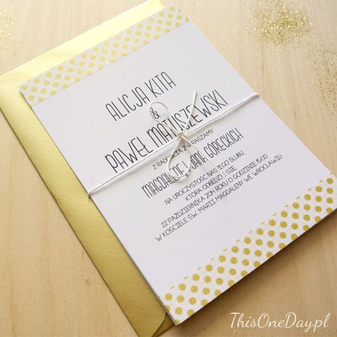 GOLD DOTS Wedding Invitation