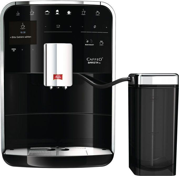 Melitta Caffeo Barista TS Zwart  Miele Caffeo Barista TS Zwart: De barista voor thuis! Met de Miele Caffeo Barista TS Zwart kan jij de ware barista in jou naar boven brengen. Koffie is immers veel meer danzomaar een warme drank. Een echte koffiefijnproever geniet van gevarieerde aroma's en verschillende bereidingswijzen. Met de Caffeo BaristaTS heb jij hiervoor de perfecte machine in huis! Deze machine schittert niet alleen door zijn exclusieve design maar ook door zijn gebruiksgemak.De…