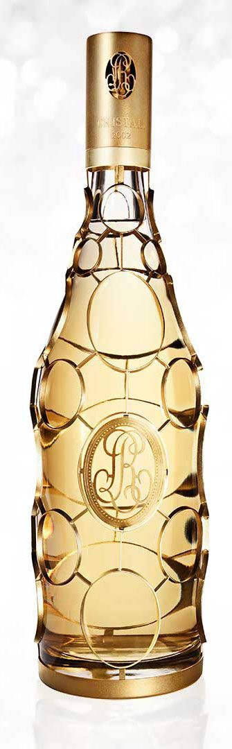 Limited-edition Cristal 2002 Jeroboam with 24-karat gold casing, $25,000, only 25 available in the U.S. at Sherry Lehmann in New York and Wally's in L.A.