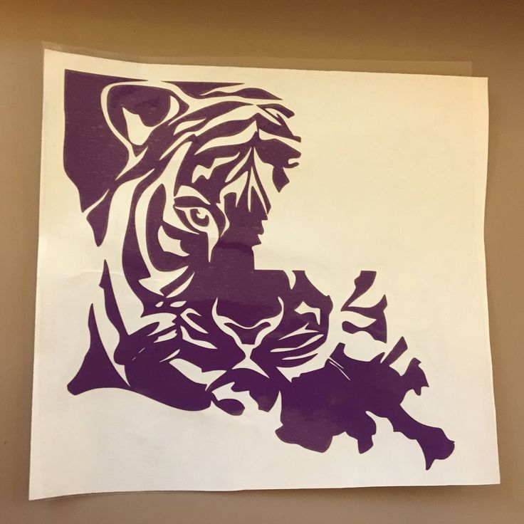 A personal favorite from my Etsy shop https://www.etsy.com/listing/555136474/louisiana-tiger-wall-yeti-car-decal
