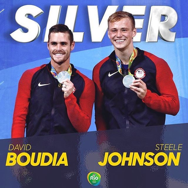 David Boudia and Steele Johnson win silver in Men's Synchronized 10M Platform! #Rio2016
