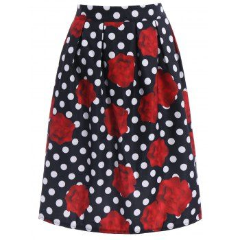 SHARE & Get it FREE | Ladylike High-Waisted A-Line Roses Print Women's Midi SkirtFor Fashion Lovers only:80,000+ Items·FREE SHIPPING Join Dresslily: Get YOUR $50 NOW!