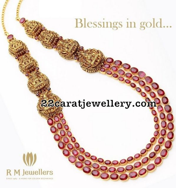 Ruby Nakshi Long Set by RM Jewellers - Jewellery Designs