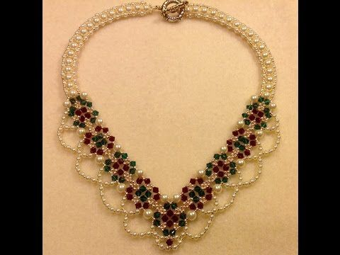 Christmas Party Necklace Tutorial - YouTube