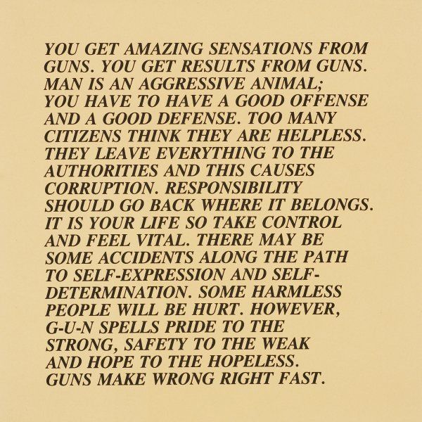 jenny holzer inflammatory essays Instead of a white rose, lorde wore one of jenny holzer's inflammatory essays on the back of her 2018 grammys dress.