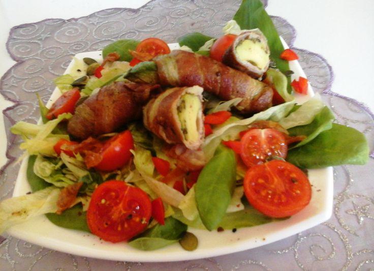 Baconbe tekert avokádó sütve/spenótos vegyes salátával… http://mediterran.cafeblog.hu/2015/12/11/baconbe-tekert-avokado-sutvespenotos-vegyes-salataval/