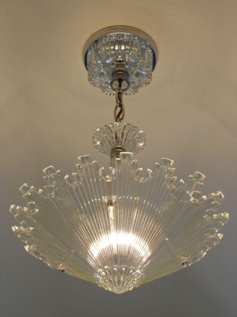 Vintage Art Deco Ceiling light fixture Chandelier American Antique Lamp, this is cool